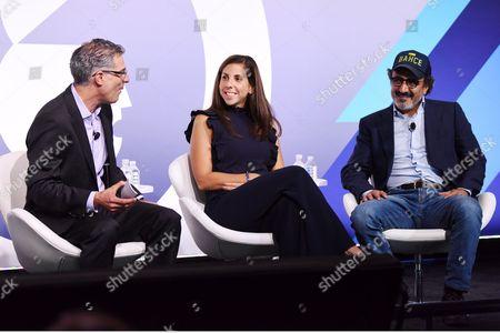 Stock Photo of Bob Safian (Editor, MD, Fast Company), Melanie Whelan (CEO, SoulCycle), Hamdi Ulukaya (Founder, Chairman and CEO, Chobani)