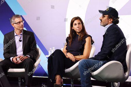 Bob Safian (Editor, MD, Fast Company), Melanie Whelan (CEO, SoulCycle), Hamdi Ulukaya (Founder, Chairman and CEO, Chobani)