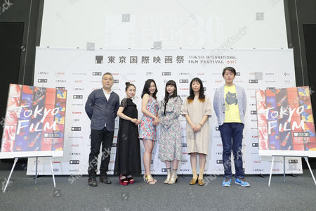 Stock Picture of Takahisa Zeze, Ayano Moriguchi, Kokone Sasaki, Aina Yamada, Akiko Oku and Keiichi Hara