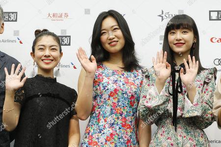 Stock Image of Ayano Moriguchi, Kokone Sasaki and Aina Yamada