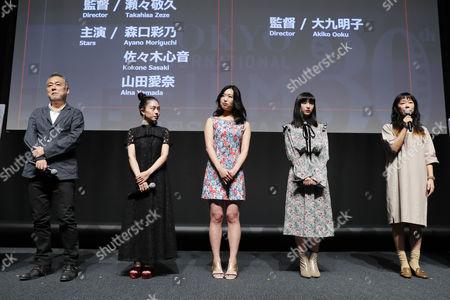 Takahisa Zeze, Ayano Moriguchi, Kokone Sasaki, Aina Yamada and Akiko Oku