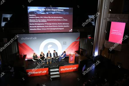Editorial photo of Extending the Live Experience seminar, Advertising Week New York 2017, Shutterstock Stage, Liberty Theater, New York, USA - 28 Sep 2017