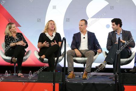 Karina Montgomery (VP Strategic Solutions, Pandora), Maureen Ford (President, National and Festival Sales, Live Nation), Andrew Essex (CEO, Tribeca Enterprises), Bernardo Spielmann (Senior Brand Director, Heineken)