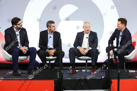Jim Bell (President, NBC Olympics Production and Programming, NBC Sports Group), Gary Zenkel (President, NBC Olympics and Business, NBC Sports Group), Dan Lovinger (EVP, Advertising Sales, NBC Sports Group), Christopher Vollmer (Global Entertainment and Media Advisory Leader, PwC)