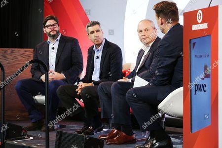 Jim Bell (President, NBC Olympics Production and Programming, NBC Sports Group), Gary Zenkel (President, NBC Olympics and Business, NBC Sports Group), Dan Lovinger (EVP, Advertising Sales, NBC Sports Group)