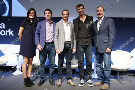 Stock Picture of Betty Liu (Inc, Anchor and Founder, Radiate), Jed Hartman (CRO, The Washington Post), Sascha Weis (VP Sales, North America, AnyClip), John DeVine (CRO, Oath), John Trimble (CRO, PANDORA)