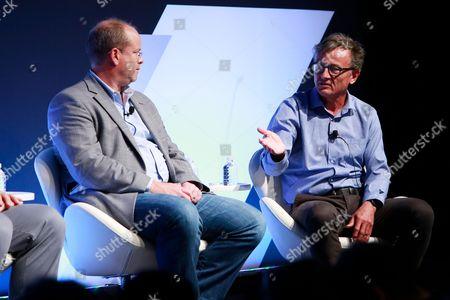 Stock Image of Tore Tellefsen (VP, TV Solutions, DataXu), Gary Milner (Director, Global Digital Marketing, Lenovo)