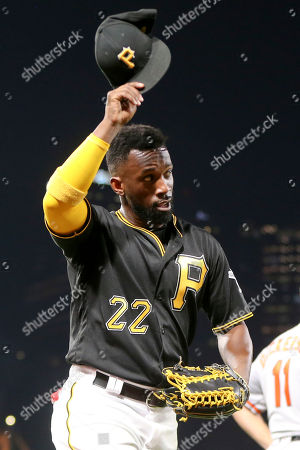 Andrew McCutchen. Pittsburgh Pirates hitting coach Jeff Branson doffs his cap to the crowd as they cheer when he was lifted in the seventh inning of the baseball game, in Pittsburgh. The Pirates won 10-1 as McCutchen hit two home runs, a double, and a singe driving in eight runs