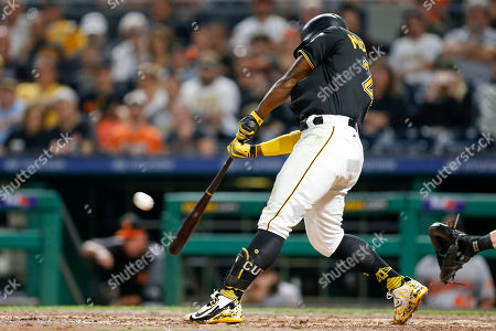 Stock Photo of Andrew McCutchen. Pittsburgh Pirates hitting coach Jeff Branson hits his second home run of the game, this one a three-run shot in the sixth inning of the baseball game against the Baltimore Orioles, in Pittsburgh