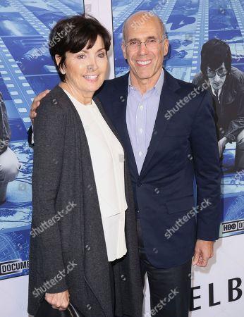 "Marilyn Katzenberg, Jeffrey Katzenberg. Marilyn Katzenberg, left, and Jeffrey Katzenberg arrive at the Los Angeles premiere of ""Spielberg"" at Paramount Studios on"