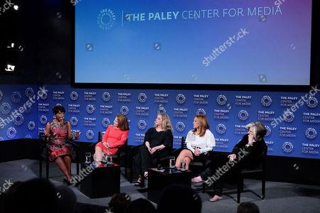 Cheryl Wills, Tovah Feldshuh, Carol Kane, Marlo Thomas and Sheila Nevins