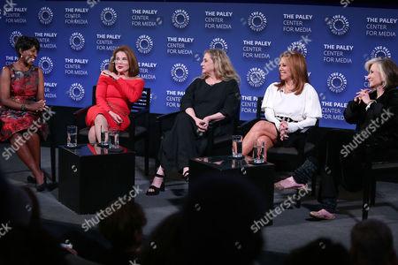 Stock Photo of Cheryl Wills, Tovah Feldshuh, Carol Kane, Marlo Thomas and Sheila Nevins