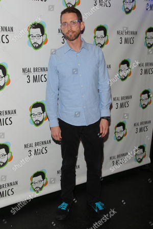 "Neal Brennan attends the Broadway opening night party of ""Neal Brennan 3 MICS"" at The Lynn Redgrave Theater, in New York"