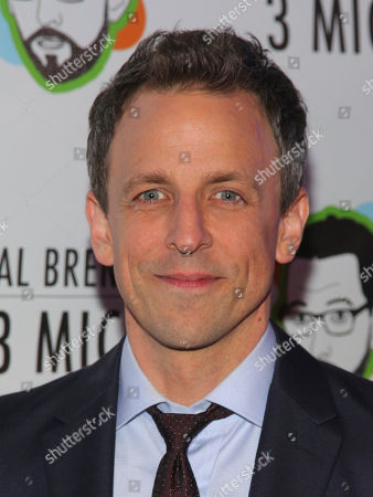 "Seth Meyers attends the Broadway opening night party of ""Neal Brennan 3 MICS"" at The Lynn Redgrave Theater, in New York"