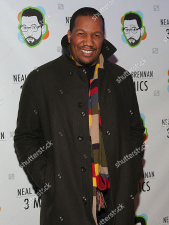 "Trayvon Free attends the Broadway opening night party of ""Neal Brennan 3 MICS"" at The Lynn Redgrave Theater, in New York"