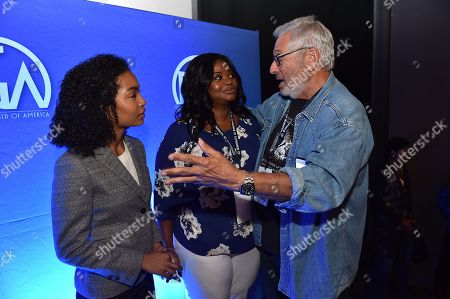 Yara Shahidi, Octavia Spencer and Hawk Koch attend the 8th Annual Produced By Conference presented by Producers Guild of America at Sony Pictures Studios on in Culver City, Calif