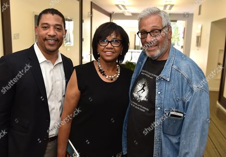 From left, David White, Cheryl Boone Isaacs and Hawk Koch attend the 8th Annual Produced By Conference presented by Producers Guild of America at Sony Pictures Studios on in Culver City, Calif