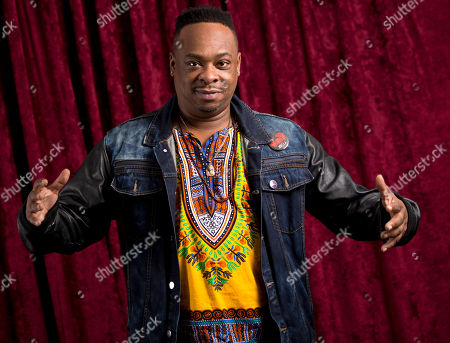 Jarobi White of A Tribe Called Quest poses for a portrait at Sirius XM studios, in New York