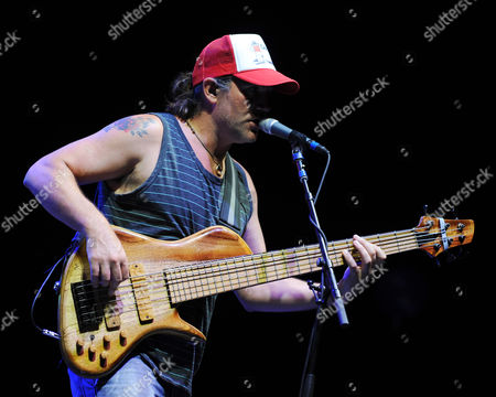 """JULY 18: Tad Kinchla of Blues Traveler performs during the """"Last Summer on Earth Tour 2012"""" at the Cruzan Amphitheater on in West Palm Beach, Florida"""