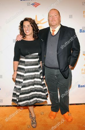 Mario Batali and Susi Cahn attend the Can Do Awards Dinner at Cipriani Wall Street on in New York