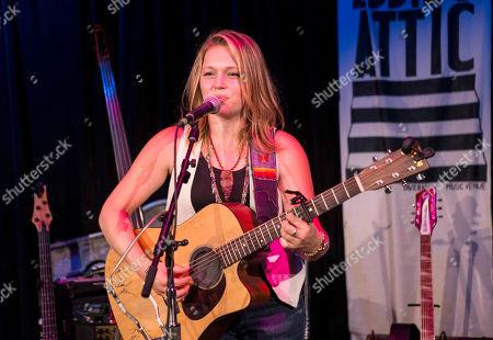 Stock Image of Crystal Bowersox performs at Eddie's Attic, in Atlanta