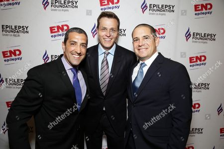 Co-Chair Andrew Gumpert, Patrick Whitesell, WME | IMG Co-CEO and Co-Chair Mark Borman seen at the Epilepsy Foundation of Greater Los Angeles Care and Cure benefit honoring Patrick Whitesell, WME | IMG Co-CEO, in Beverly Hills, CA