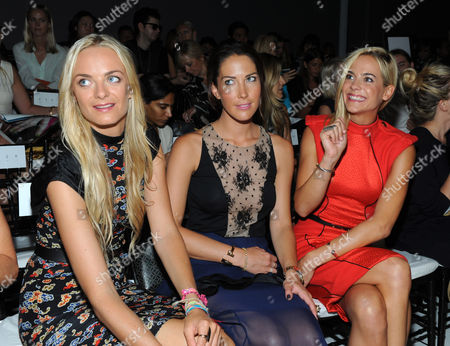 Virginie, from left, Prisca and Jenna Courtin-Clarins attend the Jason Wu spring 2013 show, in New York