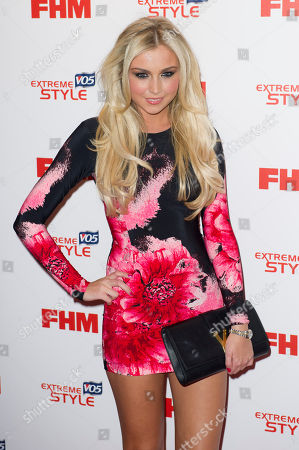 Stock Picture of Chloe Cummings arrives for the FHM's 100 Sexiest Women 2013 Party in London