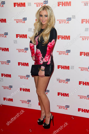 Chloe Cummings arrives for the FHM's 100 Sexiest Women 2013 Party in London