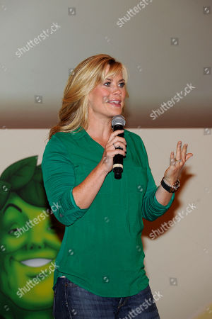 Allison Sweeney, TV host and mom, speaks at the Green Giant event, One Giant Pledge, on in New York. One Giant Pledge invites families to take a fun and simple oath to eat one more vegetable a day