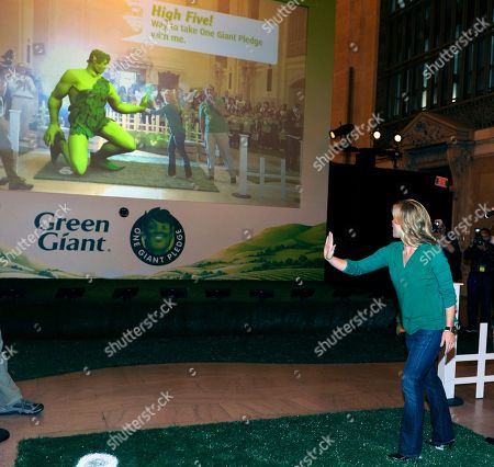 Allison Sweeney, TV host and mom, attends the Green Giant event, One Giant Pledge, on in New York. One Giant Pledge invites families to take a fun and simple oath to eat one more vegetable a day