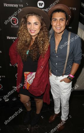 "Jessi Leon and Periko Leon are seen at ""Hennessy V.S. with Warner Music Latina Celebrate Latin Music's Biggest Night"" at Mansion, on Thursday, April 30,2015, in Miami Beach, FL"