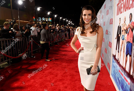"""Bianca Haase, a cast member in """"Hot Tub Time Machine 2,"""" poses at the premiere of the film at the Regency Village Theater, in Los Angeles"""