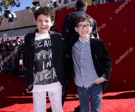 "Actor Jadon Sand, left, and actor Cole Sand seen at the premiere of the feature film ""The Lego Movie"" on in Los Angeles"