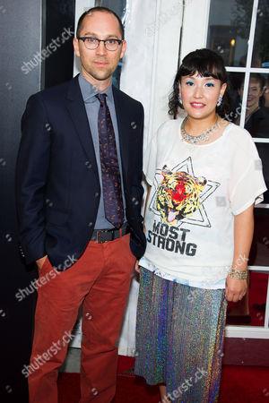 Jon Goldman and Satsuki Okawa attend the premiere of Lexus Short Films on in New York