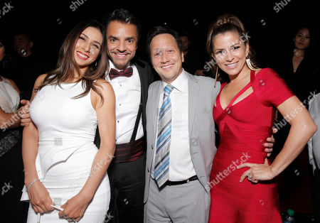 """Patricia Azarcoya Schneider, Eugenio Derbez, Rob Schneider and Alessandra Rosaldo attend Pantelion Films' """"Instructions Not Included"""" Los Angeles Premiere After Party, on Thursday, August, 22, 2013 in Los Angeles"""
