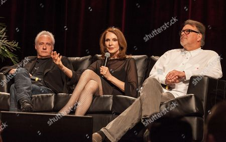 Actors Brent Spiner, Gates McFadden and Jonathan Frakes during the Star Trek: The Next Generation Reunion Event at the Rosemont Theatre in Rosemont, IL on