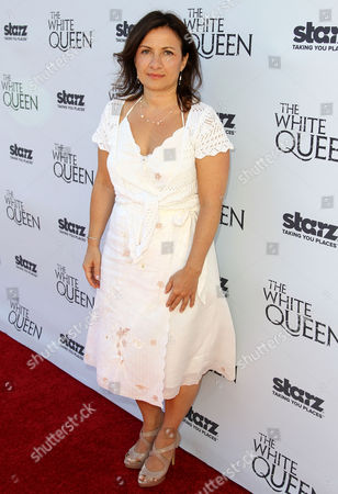 """Emma Frost arrives at STARZ' """"The White Queen"""" cocktail event at the British Consulate on in Los Angeles. """"The White Queen"""" premieres Saturday, Aug. 10 on STARZ"""