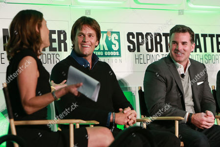Four time Super Bowl winning Quarterback of The New England Patriots, Tom Brady and CEO of Under Armour, Kevin Plank, discuss their unique path to success in sports and business at the DICK'S Sporting Goods Foundation world film premiere and panel discussion at The Conrad Hotel on in New York