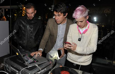 """From right, Samantha Ronson, Brent Bolthouse and a guest attend Who What Wear + Cadillac """"Style Driven: 50 Most Stylish"""" with host Nicole Richie at The London West Hollywood hotel, in West Hollywood, Calif"""