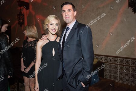 """Stock Photo of Breanne Hill, left, and Brad Peyton arrive at the World Premiere Of """"San Andreas"""" after party held at The Hollywood Roosevelt Hotel, in Los Angeles"""