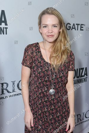 Abbie Cobb seen at the World Premiere of 'America: Imagine The World Without Her' at Regal Cinemas LA Live, in Los Angeles, CA
