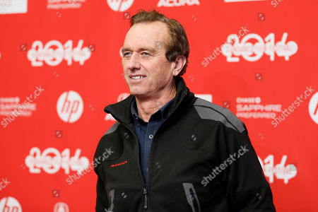 "Robert F. Kennedy, Jr., son of Robert Francis ""Bobby"" Kennedy, Sr., poses at the premiere of the film ""God's Pocket"" during the 2014 Sundance Film Festival, on in Park City, Utah"