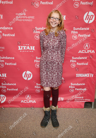 """Actress Abby Wait poses at the premiere of """"The Diary of a Teenage Girl"""" during the 2015 Sundance Film Festival, in Park City, Utah"""