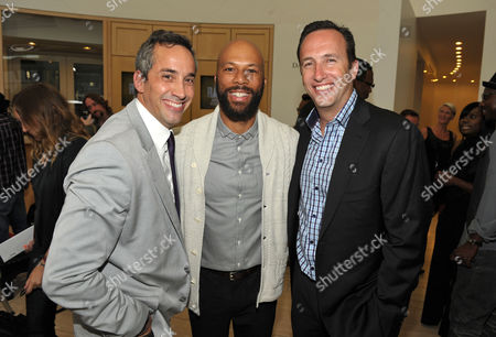 """Jeremy Gold, Common, and Charlie Collier attend a special screening of the second season premiere of AMC's """"Hell on Wheels"""" on in Beverly Hills, Calif"""