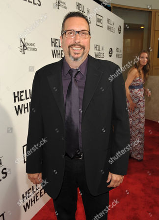 "John Shiban attends a special screening of the second season premiere of AMC's ""Hell on Wheels"" on in Beverly Hills, Calif"