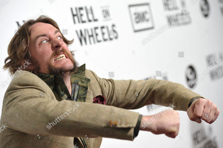 "Phil Burke attends a special screening of the second season premiere of AMC's ""Hell on Wheels"" on in Beverly Hills, Calif"