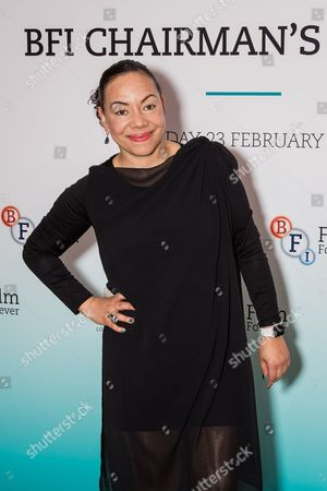 Oona King poses for photographers upon arrival at the BFI Chairman Dinner in London