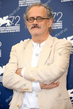 Stock Image of Director Giuseppe Gaudino poses during the photo call for the movie Per Amore Vostro (For your Love) at the 72nd edition of the Venice Film Festival in Venice, Italy, . The 72nd edition of the festival runs until Sept. 12