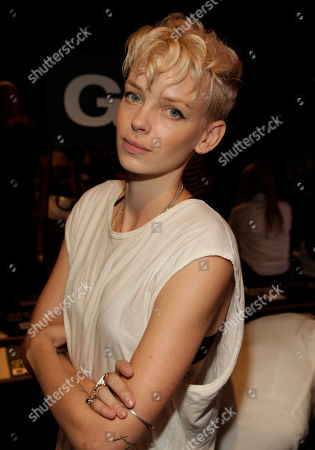 Dorith Mous attends the DKNY Spring/Summer 2015 fashion show at Mercedes-Benz Fashion Week on in New York